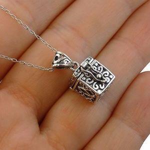 Prayer box pendant and chain